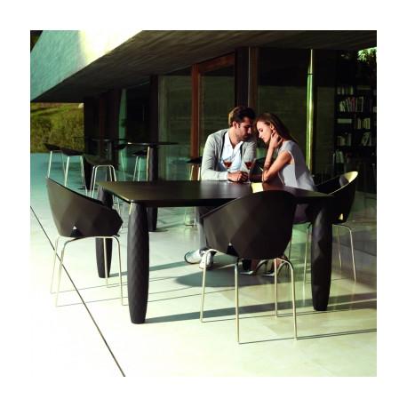 Table Vases, Vondom noir 100x100 cm