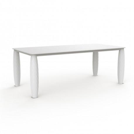 Table Vases, Vondom blanc 210x100 cm