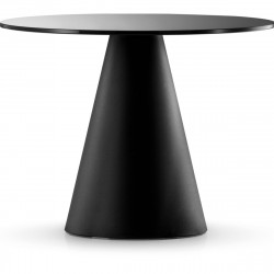 Table Ikon 869, Pedrali noir Diamètre 129 cm