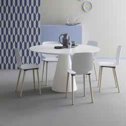 Table Ikon 869, Pedrali blanc Diamètre 129 cm