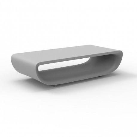 Table basse Bum Bum, Vondom gris silver laqué brillant 148x68xH38 cm