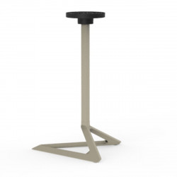 Pied de table Delta, Vondom ecru Fixe, H73 cm