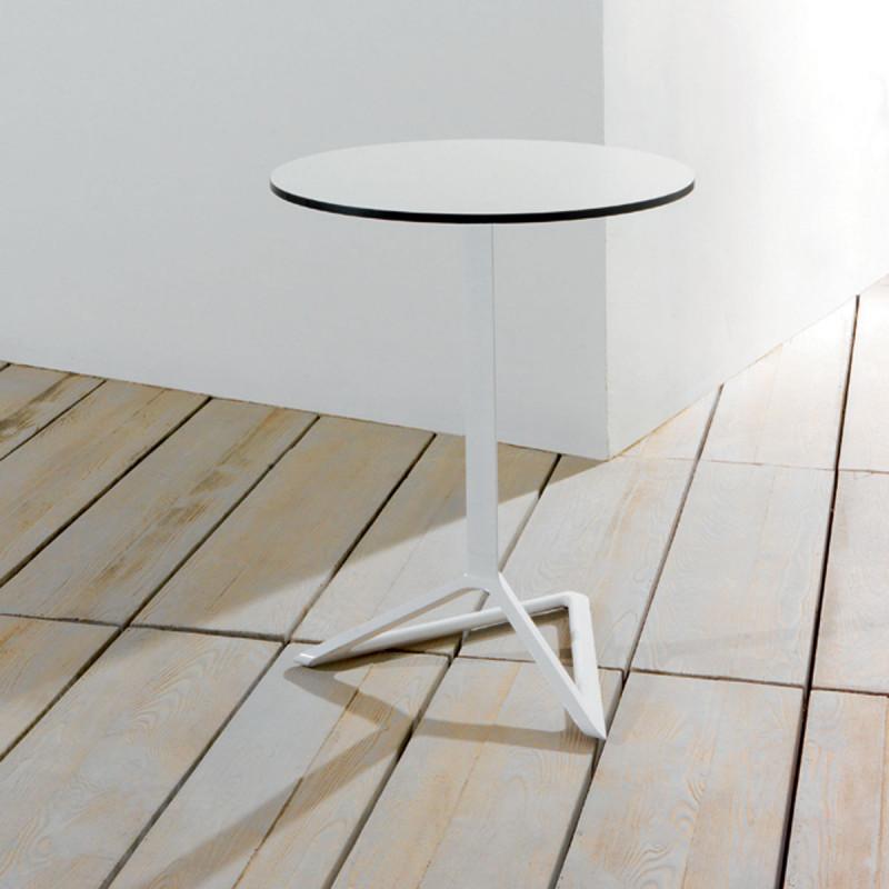 Pied De Table Delta Vondom Blanc Basculant H105 Cm Cerise Sur