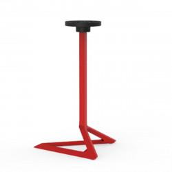 Pied de table Delta, Vondom rouge Basculant, H105 cm