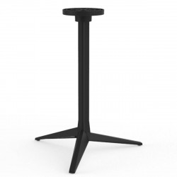 Pied de table Faz, Vondom noir Fixe, H105 cm