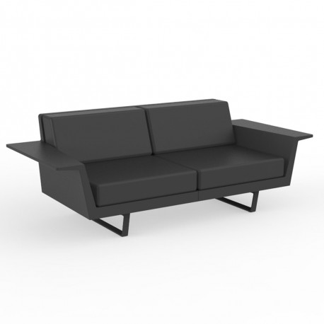 Canapé Flat, Vondom anthracite 2 places