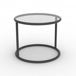 Table basse Kes, Vondom anthracite Diamètre 40 cm