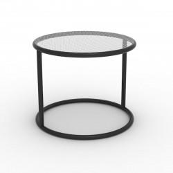 Table basse Kes, Vondom noir Diamètre 55 cm