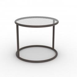 Table basse Kes, Vondom bronze Diamètre 55 cm
