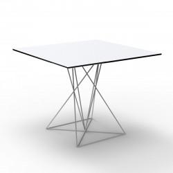 Table Faz inox, Vondom blanc 70x70xH72 cm