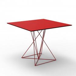 Table Faz inox, Vondom rouge 70x70xH72 cm