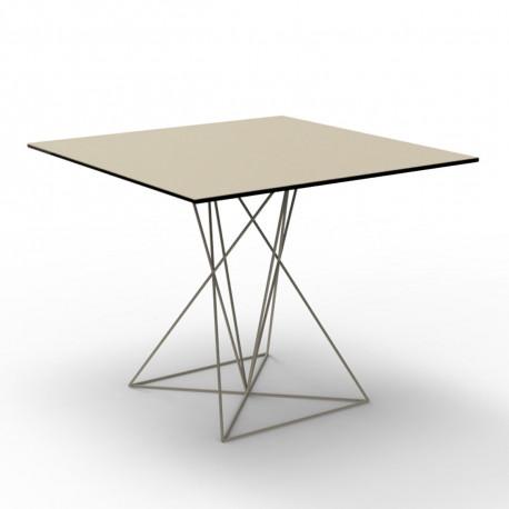 Table Faz inox, Vondom ecru 90x90xH72 cm