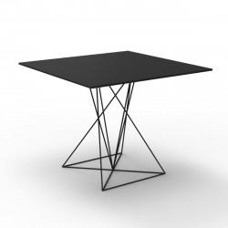 Table Faz inox, Vondom noir 100x100xH72 cm