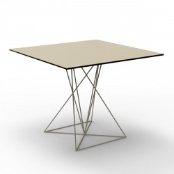 Table Faz inox, Vondom ecru 100x100xH72 cm