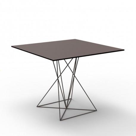Table Faz inox, Vondom bronze 100x100xH72 cm