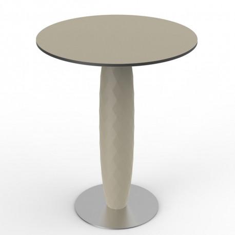 Table ronde Vases, Vondom ecru Diamètre 60 cm