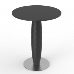 Table ronde Vases, Vondom noir Diamètre 70 cm
