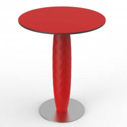 Table ronde Vases, Vondom rouge Diamètre 70 cm