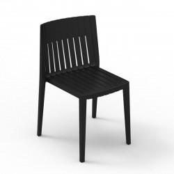 Chaise Spritz, Vondom noir Sans accoudoirs