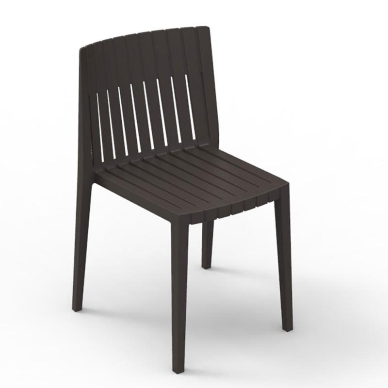 Chaise spritz vondom bronze sans accoudoirs cerise sur for Chaise pour bronzer