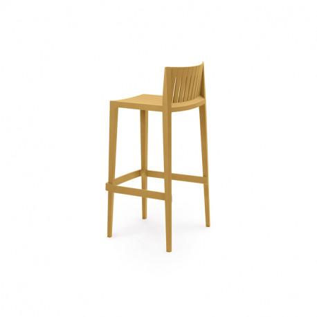 Tabouret haut Spritz, hauteur d'assise 66cm, Vondom moutarde