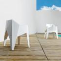 Chaise futuriste Voxel, Vondom blanc