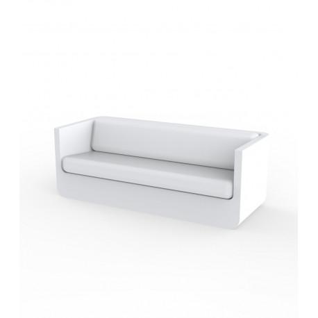 Canapé Ulm, Vondom blanc, 200x82xH72cm