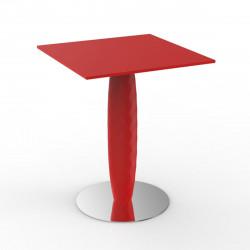 Table carrée Vases, Vondom rouge 60x60 cm