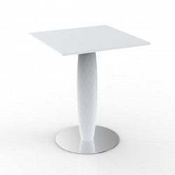 Table carrée Vases, Vondom blanc 70x70 cm