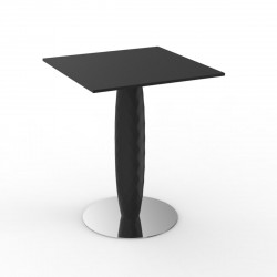 Table carrée Vases, Vondom noir 70x70 cm