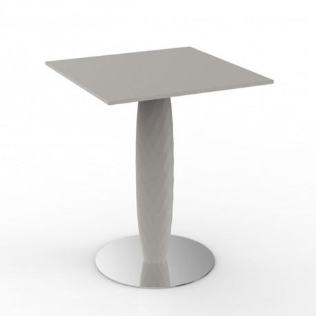 Table carrée Vases, Vondom ecru 70x70 cm