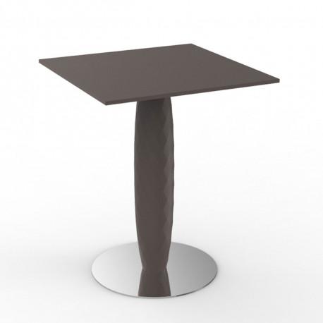 Table carrée Vases, Vondom bronze 70x70 cm