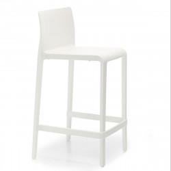 Tabouret Volt 677, Pedrali blanc, hauteur d\'assise 66 cm