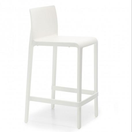 Tabouret Volt 677, Pedrali blanc, hauteur d'assise 66 cm