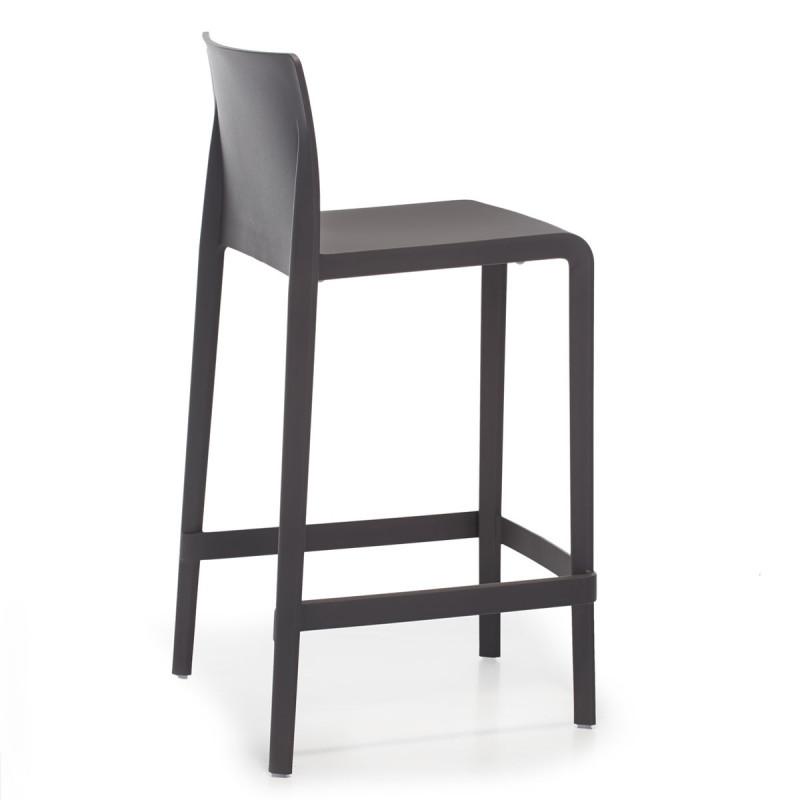 vente chaude en ligne 7e979 13dfd Tabouret Volt 677, Pedrali anthracite, hauteur d'assise 66 cm