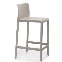 Tabouret Volt 677, Pedrali beige, hauteur d\'assise 66 cm
