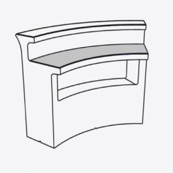 Desk Break bar, Slide Design transparent Verre trempé
