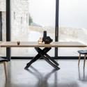 Table Sculptura en bois chene naturel 200x106 cm