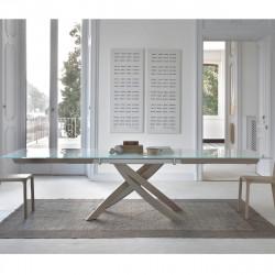 Table Sculptura en verre Extrawhite brillant 250x106 cm