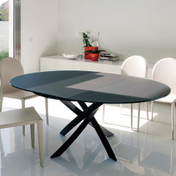 Table Elica à rallonge Anthracite opaque 175x125 cm