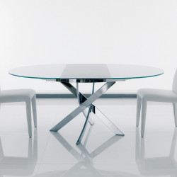 Table Elica à rallonge blanc opaque 175x125 cm