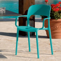 Chaise gipsy avec accoudoirs turquoise