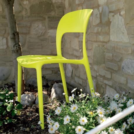 Chaise gipsy sans accoudoirs citron