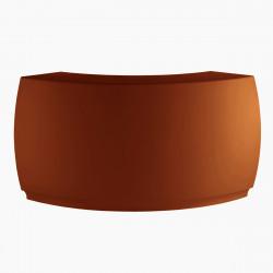 Banque d\'accueil Round, élément d\'angle, Proselec bronze Mat