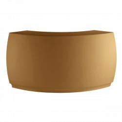 Banque d\'accueil Round, élément d\'angle, Proselec beige Mat