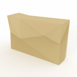 Banque d'accueil Origami, élément droit, Proselec écru Mat