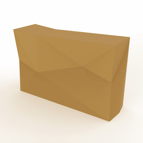 Banque d'accueil Origami, élément droit, Proselec beige Laqué
