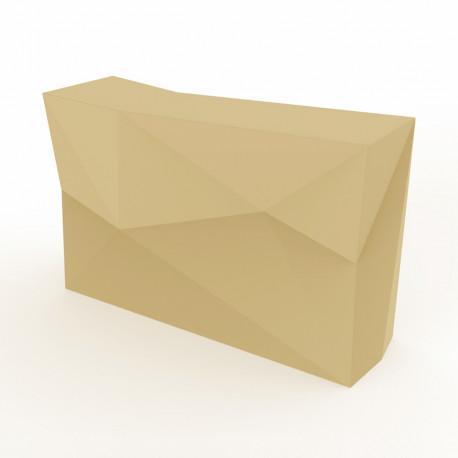 Banque d'accueil Origami, élément droit, Proselec écru Laqué