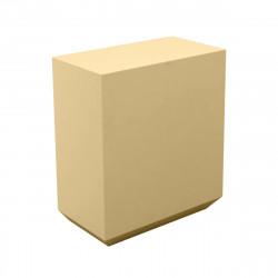 Banque d\'accueil Line, élément droit 1m, Proselec beige Laqué