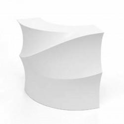 Banque d\'accueil Wave, élément d\'angle, Proselec blanc Laqué